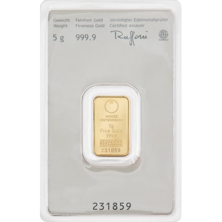 Gold bar 5g - Austrian Mint