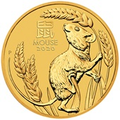 Gold Lunar III 1/10 oz - Mouse