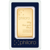 Gold bar 100g - philoro