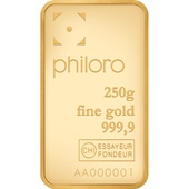 Gold bar 250g - philoro