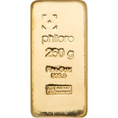 Gold bar 250g cast - philoro