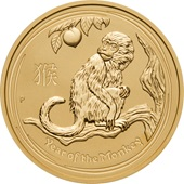 Gold Lunar 1/1 - Monkey