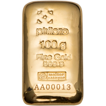Gold bar 100g cast - philoro