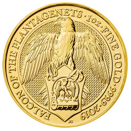 Gold The Falcon of the Plantagenets 1 oz - The Queen´s Beasts 2019