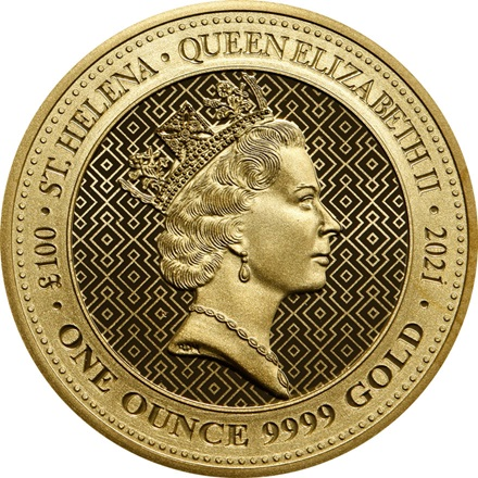 Gold Queen's Virtues - Victory Coin 1 Oz - 2021