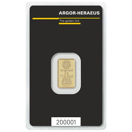 Gold bar 2g - Argor Heraeus