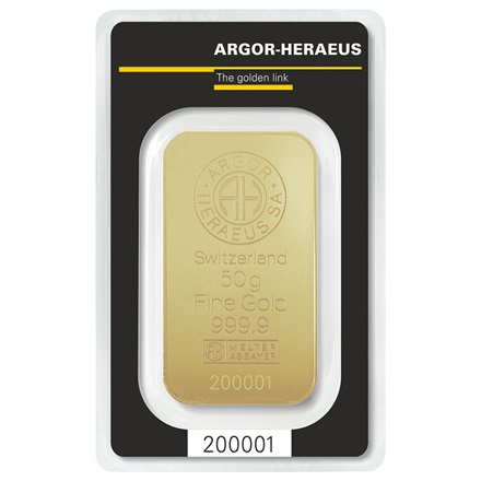 Gold bar 50g - Argor Heraeus