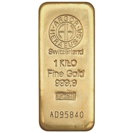 Gold bar 1000g - Argor Heraeus