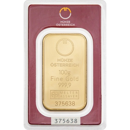 Gold bar 100g - Austrian Mint
