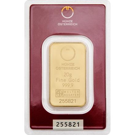 Gold bar 20g - Austrian Mint