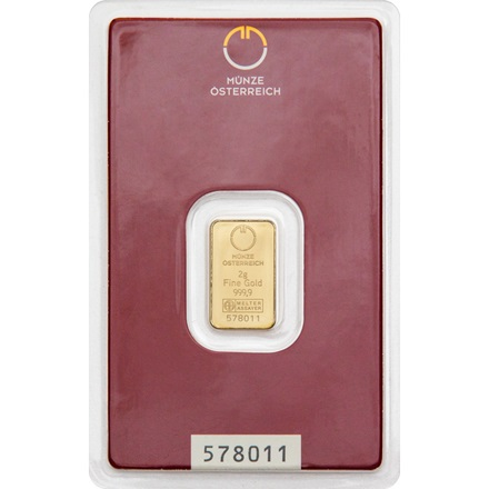 Gold bar 2g - Austrian Mint