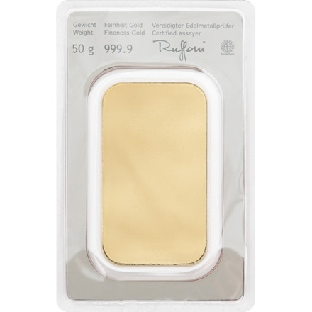 Gold bar 50g - Austrian Mint