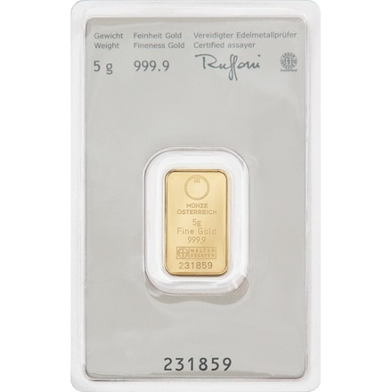Gold bar 5g - Austrian Mint