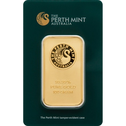 Gold bar 100g - Perth Mint