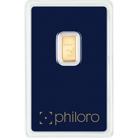 Gold bar 1g - philoro