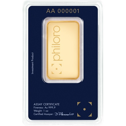Gold bar 1oz - philoro
