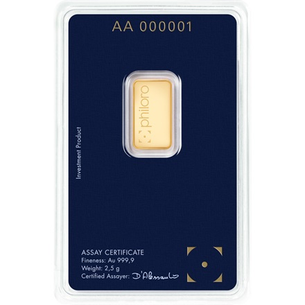 Gold bar 2,5g - philoro