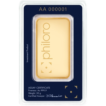 Gold bar 50g - philoro