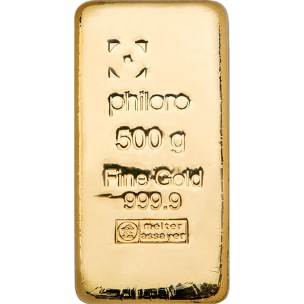 Gold bar 500g cast - philoro