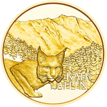 Gold Natural Treasure Alps - In the deepest Forest 50 EUR AUT PP - 2021